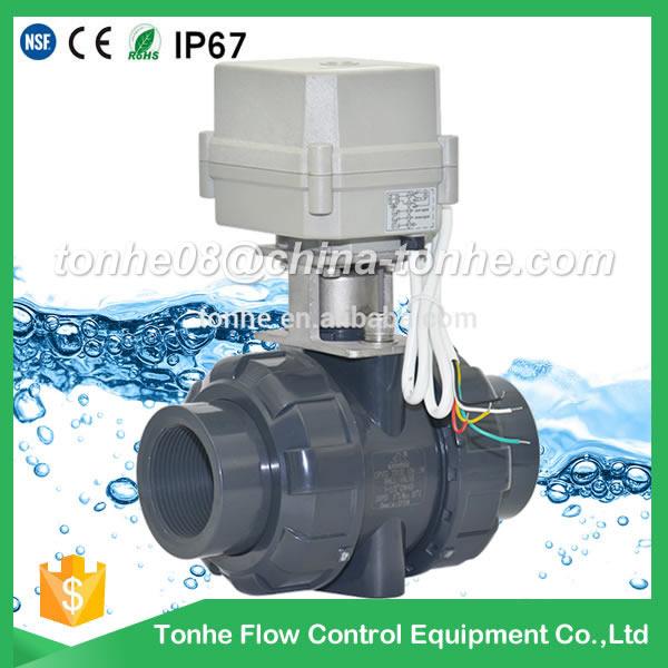 A100-T50-P2-C DN 50 2 inch AC 110-230V Female Solvent socket type CPVC PVC motorized valve