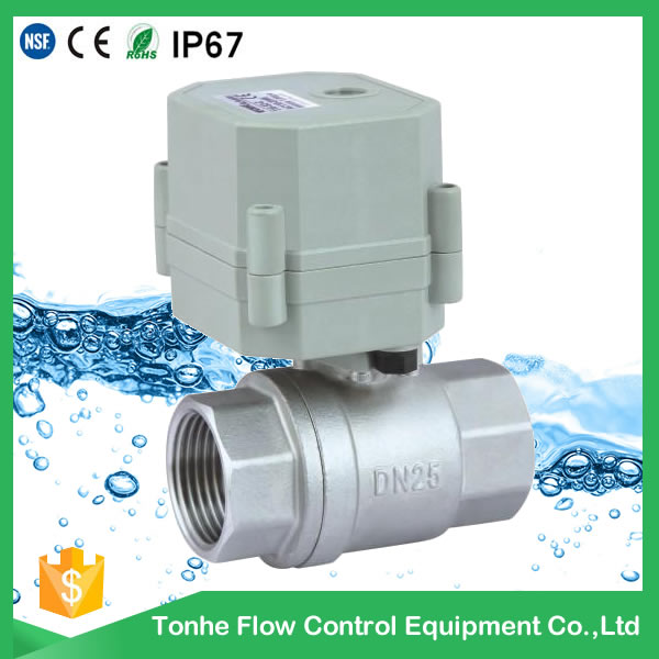 A20-M25-S2-C 2 way DN25 Stainless Steel modulating Proportional valve with indicator