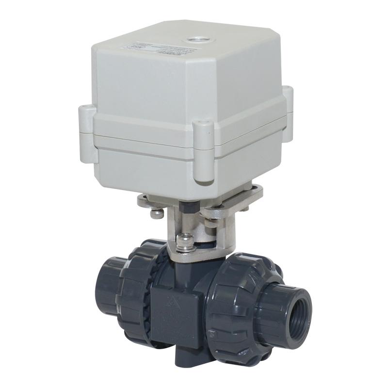 A100-T15-P2-C DN15 PVC UPVC plastic motorized valve