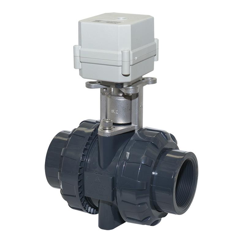 A100-T50-P2-C 2 inch PVC motorized valve true union