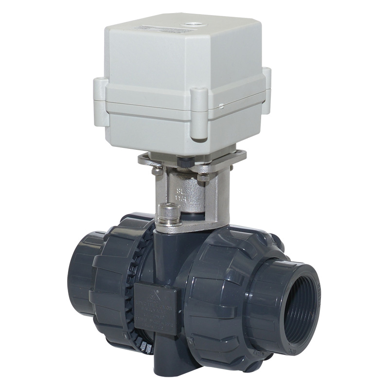 A100-T32-P2-C DN32 PVC NSF approved electric Motorized ball valve