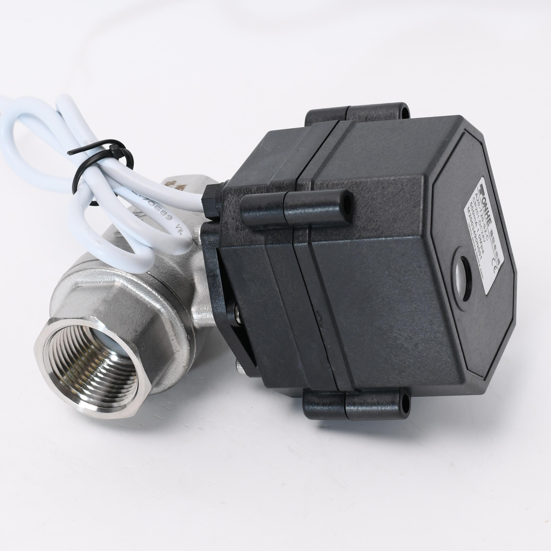 DN20 black housing stainless steel motorized ball valve 3 4