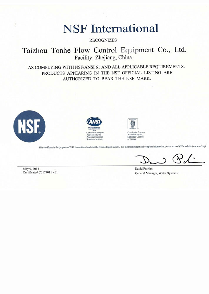Tonhe Stainless steel motorized valve NSF61 approved