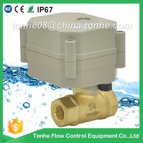 A20-T8-B2-C DN8 DC9-24v CR2 02 normally closed brass motorized valve with indicator