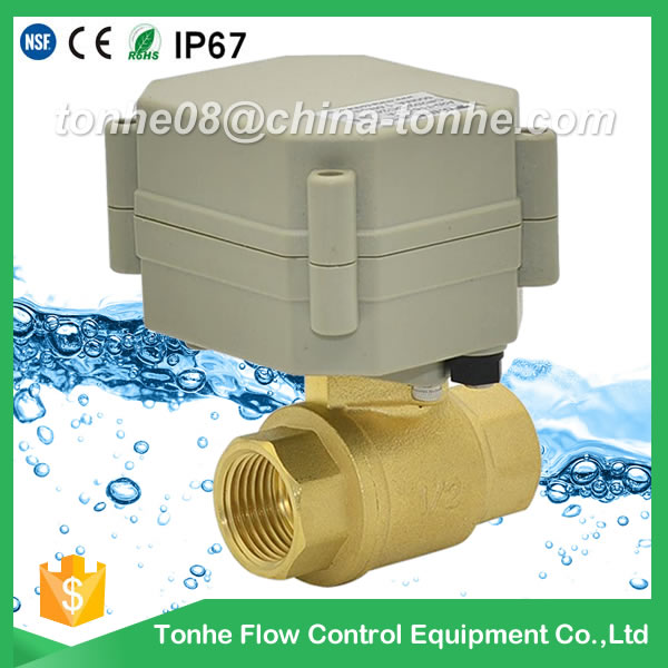 A20-T15-B2-A CR2 01 DN15 brass motorized valve suit for water and gas