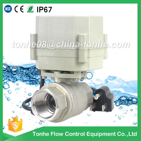 A20-T20-S2-C BSP NPT BSPT DN20 AC110-230v motorized valve electric ball valve with plug