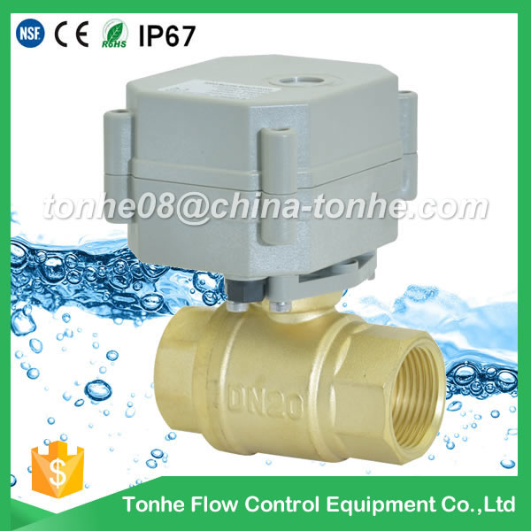A20-T20-B2-C DN20 brass CW511L electric ball valve motorized valve suit for drinking water