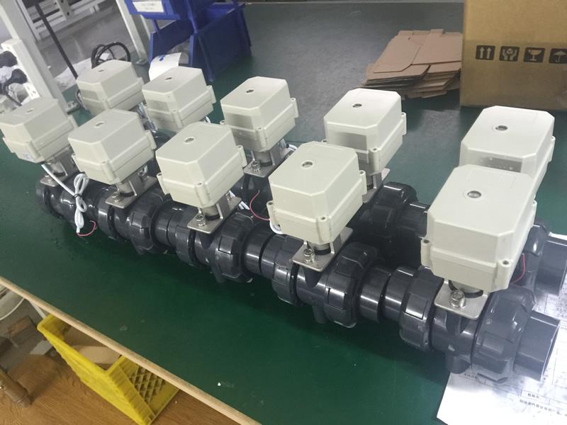 PVC motorized valve