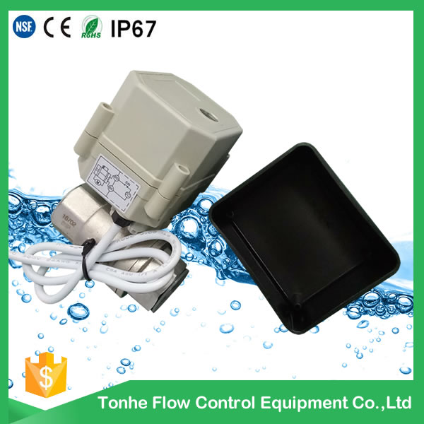 A100-T25-S2-C 1 inch motorized valve with black plastic cover