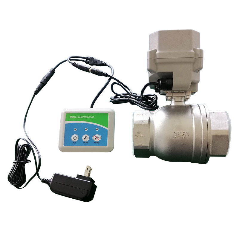 W50-S2-B water leak detection detector sensor alarm system with 2 inch motorized valve